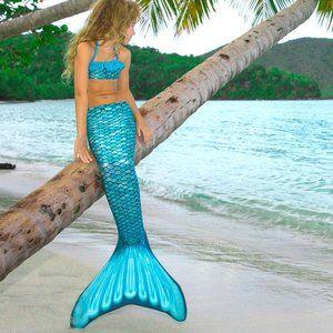Fin Fun Youth Tidal Teal Mermaid Tail